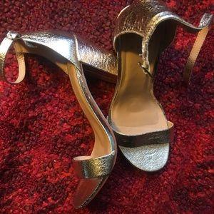 Gold Women's Ema High Block Heel Pumps - A New Day